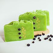 Косметика ручной работы handmade. Livemaster - original item Juniper natural soap from scratch, handmade for men green. Handmade.