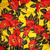 Ткани ручной работы. Ярмарка Мастеров - ручная работа Ткань, шелк натуральный (крепдешин), винтажный. Handmade.