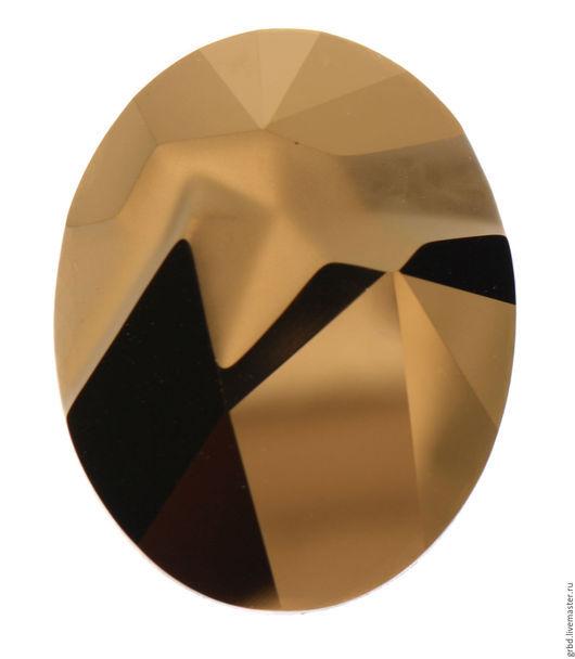 Для украшений ручной работы. Ярмарка Мастеров - ручная работа. Купить Kaputt Oval Dorado. Handmade. Золотой, хрусталь Сваровски