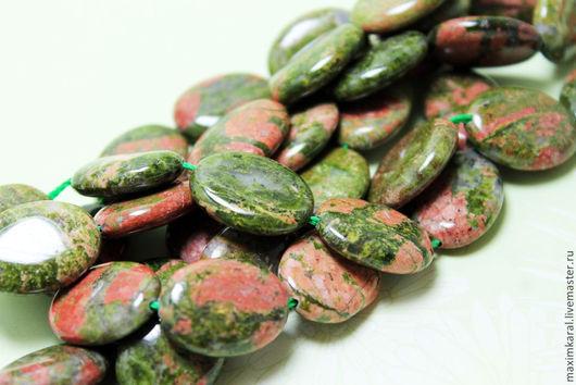 Для украшений ручной работы. Ярмарка Мастеров - ручная работа. Купить Зеленый опал бусины овалы. Handmade. Бусина