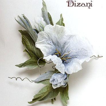 Flowers and floristry handmade. Livemaster - original item Brooch