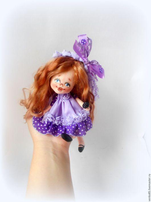 Коллекционные куклы ручной работы. Ярмарка Мастеров - ручная работа. Купить Чудо на ладошке Черничка (текстильная интерьерная кукла в подарок). Handmade.