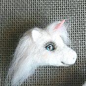 Украшения handmade. Livemaster - original item Unicorn brooch made of wool. Handmade.