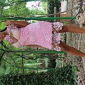 Одежда ручной работы. Ярмарка Мастеров - ручная работа Платье вязаное крючком Розовый бриз. Handmade.