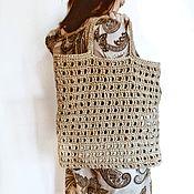 Сумка-мешок ручной работы. Ярмарка Мастеров - ручная работа Сумка-шоппер из джута, экосумка, авоська, мешок для покупок. Handmade.