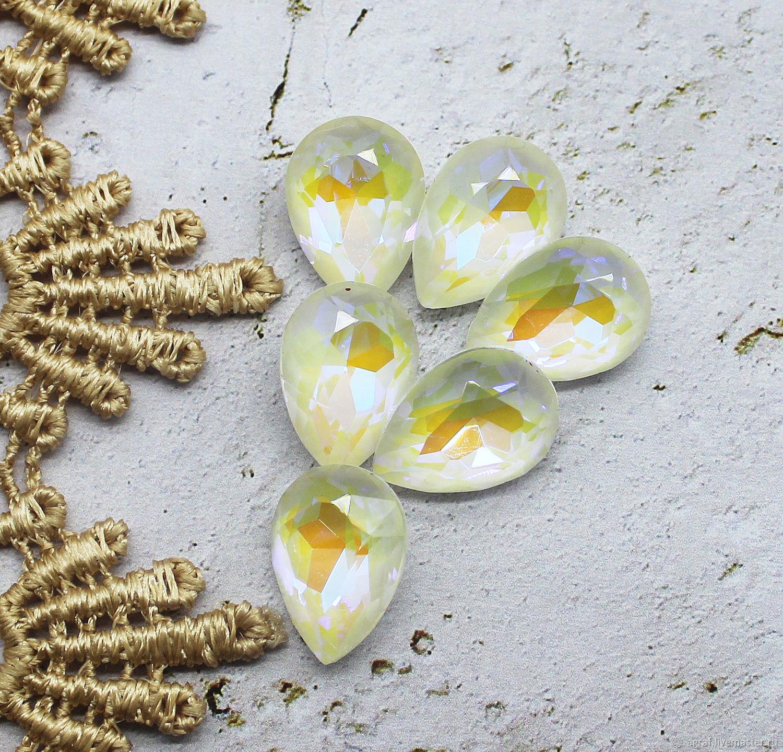Premium 14/10 mm caramel rhinestones, Rhinestones, Solikamsk,  Фото №1