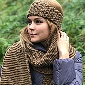 handmade. Livemaster - original item Set the COMFORT of a scarf with a bandage of 100% wool. Handmade.
