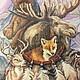 """Животные ручной работы. Заказать Вышитая картина """"Ловец снов"""". Надежда Тимофеева. Ярмарка Мастеров. Животные, женщина, интерьер, стекло"""