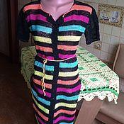 Одежда ручной работы. Ярмарка Мастеров - ручная работа Пляжный халатик крючком. Handmade.