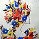 Картина из стекла `Как женщины похожи на цветы!`, фьюзинг, Julia Art Glass