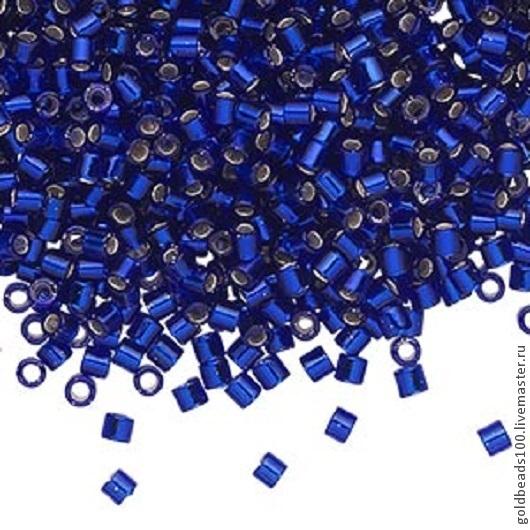 Для украшений ручной работы. Ярмарка Мастеров - ручная работа. Купить 10 ГР MIYUKI DELICA 8/0 DBL9868 silver-lined transparent cobalt blue. Handmade.