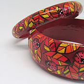 Украшения handmade. Livemaster - original item Set of two wooden bracelets