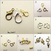 Материалы для творчества handmade. Livemaster - original item Locks for jewelry Art.ZU15. Handmade.