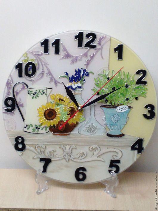 Часы для дома ручной работы. Ярмарка Мастеров - ручная работа. Купить Часы настенные Прованс 2. Handmade. Бледно-сиреневый