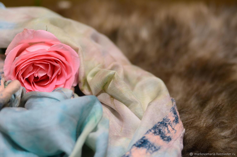 """Copy of Copy of Scarf silk """"Dawn"""" Scarf silk batik, Scarves, St. Petersburg,  Фото №1"""