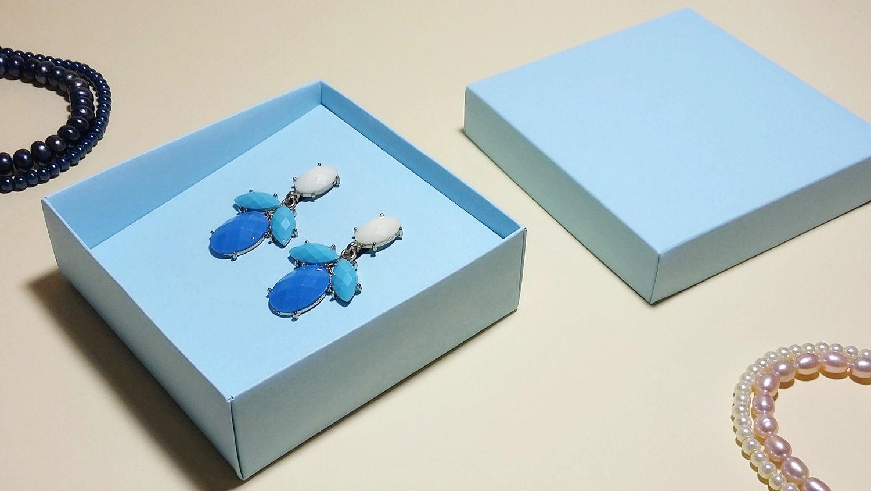 Подарочная коробка для сережек своими руками 71