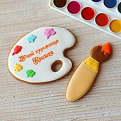 handmade. Livemaster - original item Gingerbread palette with brush. Handmade.