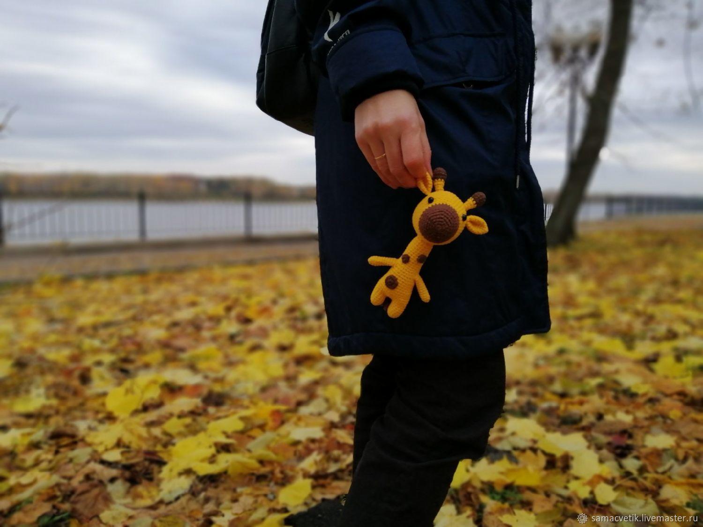Soft knitted toy Giraffe, Stuffed Toys, Rybinsk,  Фото №1