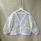 Одежда handmade. Livemaster - original item Silk cardigan. Handmade.