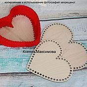 Материалы для творчества handmade. Livemaster - original item the bottoms of the baskets for the bottom heart. Handmade.