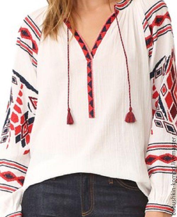 Women's embroidery ЖР4-083, Blouses, Temryuk,  Фото №1