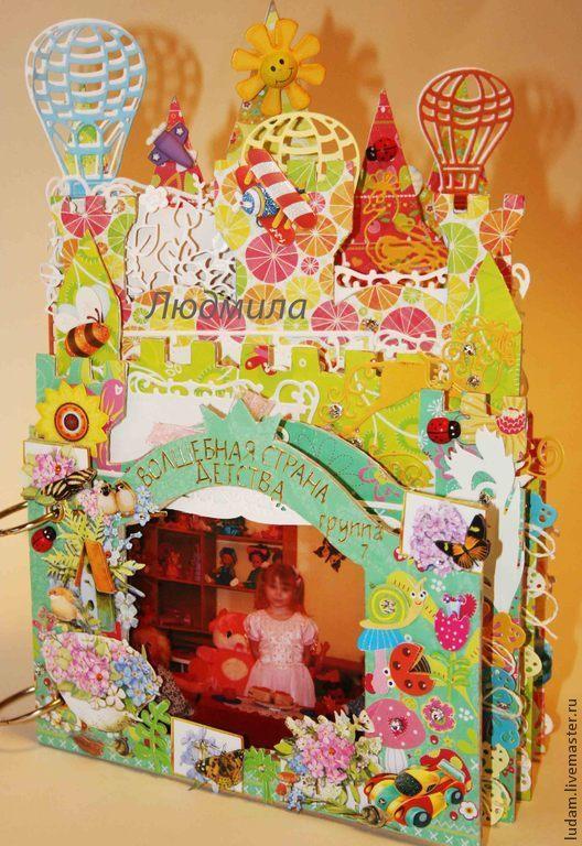 """Фотоальбомы ручной работы. Ярмарка Мастеров - ручная работа. Купить Альбом на выпускной в форме замка для девочки """"Замок лесной нимфы. Handmade."""