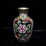 Винтаж handmade. Livemaster - original item Cloisonne collector`s vase. Handmade.