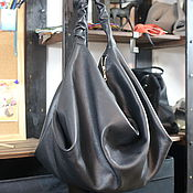 Сумки и аксессуары handmade. Livemaster - original item Bag - hobo - shopper - black. Handmade.