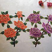 Материалы для творчества handmade. Livemaster - original item Exquisite embroidery, applique. Botany. Handmade.