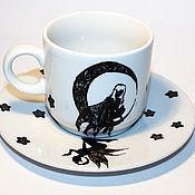 """Сервизы ручной работы. Ярмарка Мастеров - ручная работа Кофейная пара """"Fairy Tale"""". Handmade."""