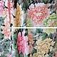 Шитье ручной работы. Ткань  100% натуральный шелк Розовый сад. Ткани, аппликации. Инесса (MMonro). Ярмарка Мастеров.