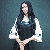 """Одежда handmade. Livemaster - original item Эксклюзивный комплект """"Черная роза-2"""" сарафан и вышитая блуза. Handmade."""