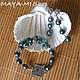 Серьги ручной работы. KASUMI SEA GREEN BEAUTY-I, серьги. МАЙЯ (Maya-Mi Design). Ярмарка Мастеров.