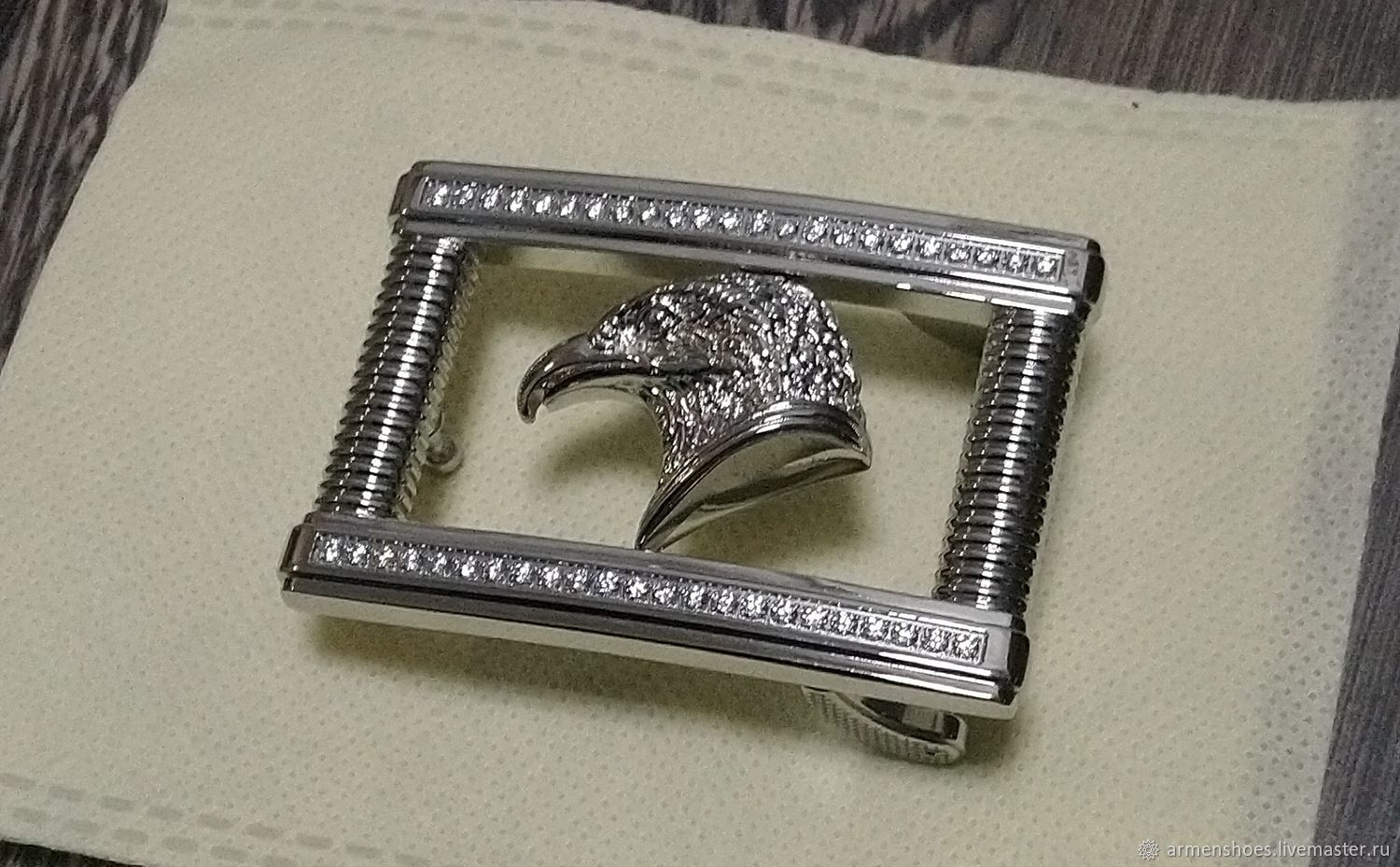 Belt buckle, stainless steel, for belts with a width of 3.3-3.5 cm, Accessories4, Tosno,  Фото №1
