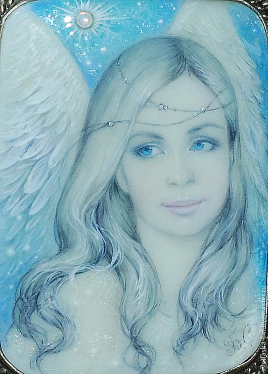 Люди, ручной работы. Ярмарка Мастеров - ручная работа. Купить Ангел Небесный.... Handmade. Голубой, перламутр натуральный
