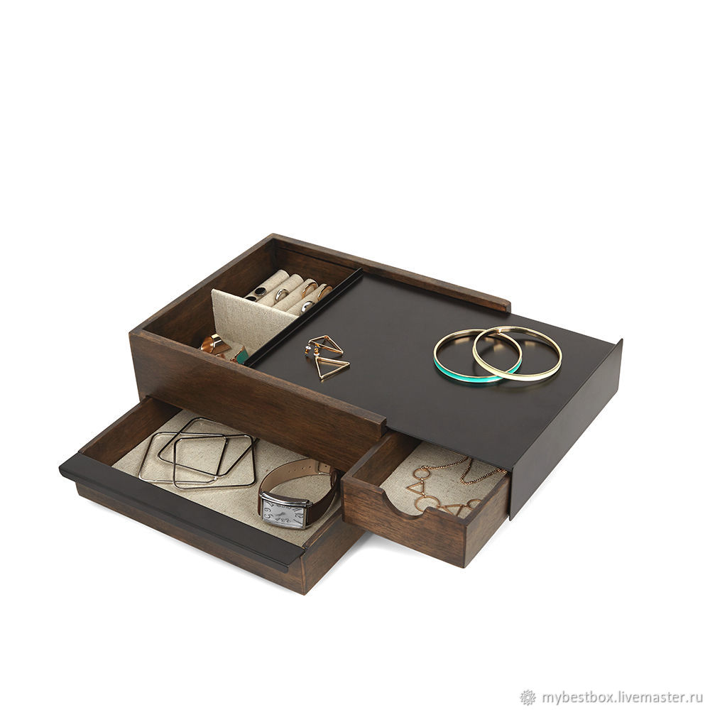 Stowit jewelry box black-walnut, Box, Moscow,  Фото №1