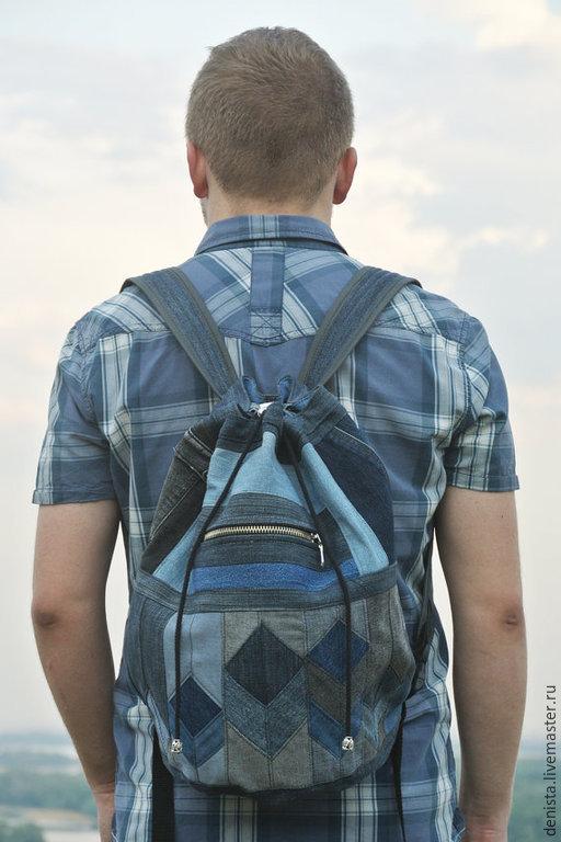 """Рюкзаки ручной работы. Ярмарка Мастеров - ручная работа. Купить Рюкзак джинсовый """"3D Vision"""". Handmade. Рюкзак, рюкзак для девушки"""