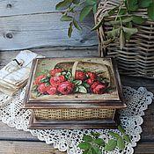 """Для дома и интерьера ручной работы. Ярмарка Мастеров - ручная работа """"Корзина роз"""" шкатулка. Handmade."""