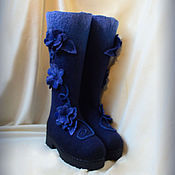 """Обувь ручной работы. Ярмарка Мастеров - ручная работа Валенки """"Индиго"""". Handmade."""