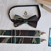 Аксессуары handmade. Livemaster - original item Bow tie and suspenders Camouflage/ buy a men`s tie and suspenders men`s. Handmade.