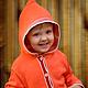 """Одежда для девочек, ручной работы. Ярмарка Мастеров - ручная работа. Купить Мягкий и нежный кардиган""""Апельсинка"""" из итальянского хлопка для малыша. Handmade."""