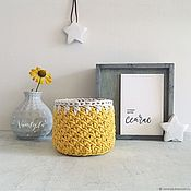 Для дома и интерьера handmade. Livemaster - original item Knitted basket. Cotton basket