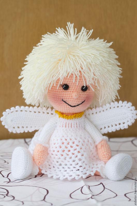 Человечки ручной работы. Ярмарка Мастеров - ручная работа. Купить Ангелочек кукла игрушка купить детям подарок. Handmade. Белый