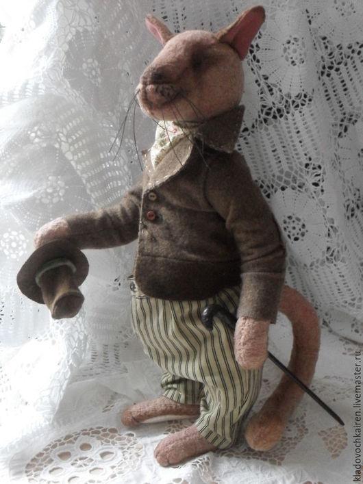 Мишки Тедди ручной работы. Ярмарка Мастеров - ручная работа. Купить Тедди Шерлок Кот. Handmade. Коричневый, кукла в подарок