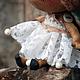 Коллекционные куклы ручной работы. Заказать Бабочка-кукла. А-115. 'AnnDolls'. Ярмарка Мастеров. Кукла текстильная, бежевый, лён