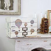 Комоды ручной работы. Ярмарка Мастеров - ручная работа Шкатулка комод на заказ для украшений с отделениями Воздушные шары. Handmade.