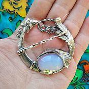Украшения handmade. Livemaster - original item 339 brooch silver with stones. Handmade.