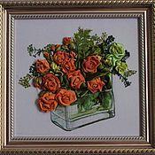 """Картины и панно ручной работы. Ярмарка Мастеров - ручная работа Картина """"Розы"""". Handmade."""