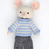 Куклы и игрушки ручной работы. Ярмарка Мастеров - ручная работа Игрушка вязаная. Кукла Белый мышонок. Вязаная игрушка. Handmade.