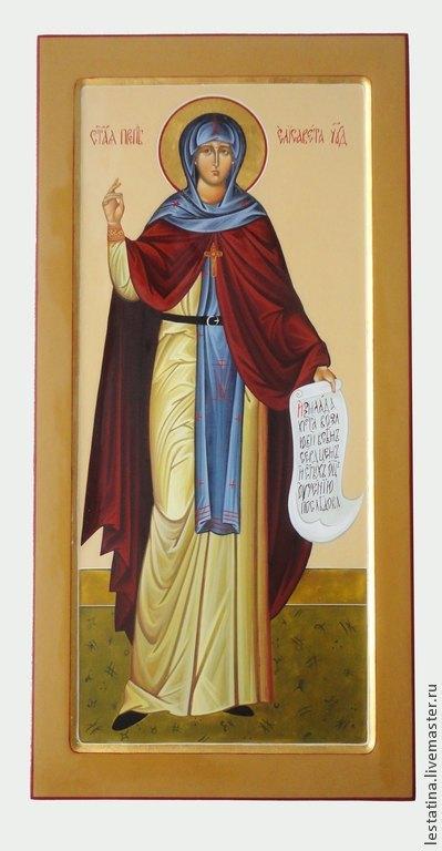 Мерная икона. Святая преподобная Елизавета Константинопольская.